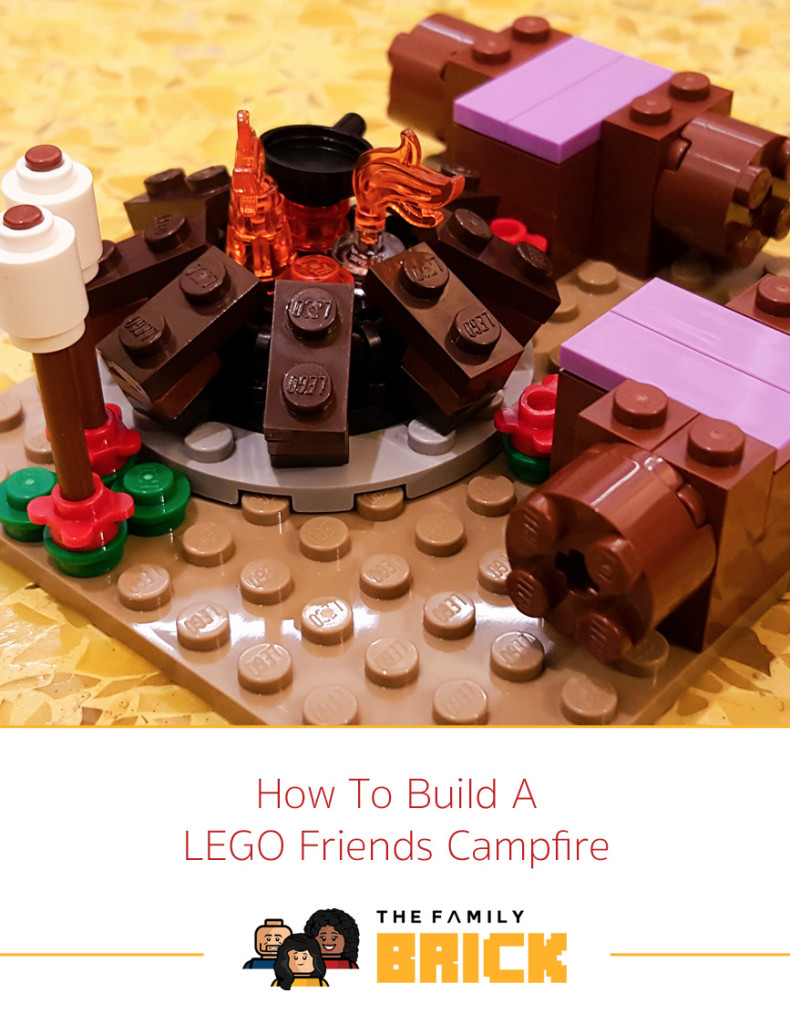 How To Build A LEGO Friends Campfire