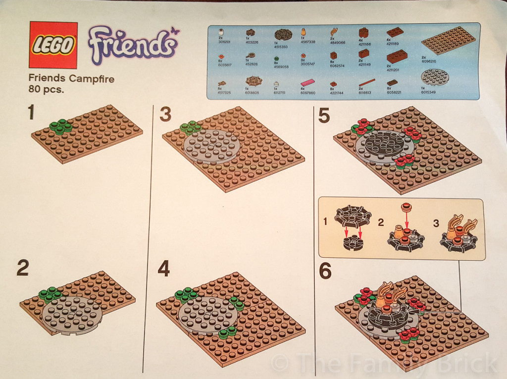 LEGO Friends Campfire Build Instructions - Part 1