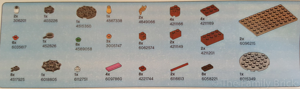 LEGO Friends Campfire Inventory List