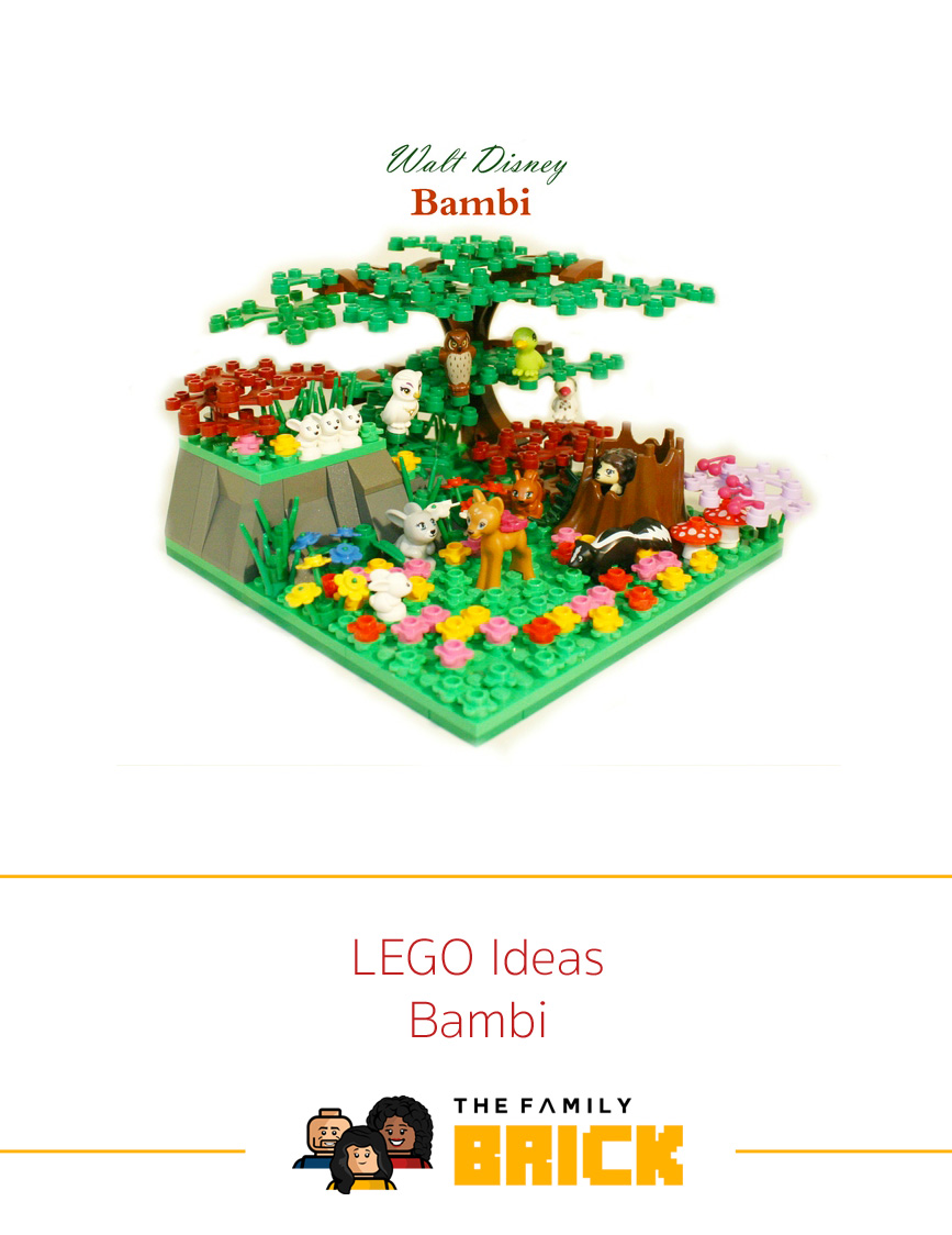 How To Make Your Own Lego Ideas Bambi Scene The Family Brick