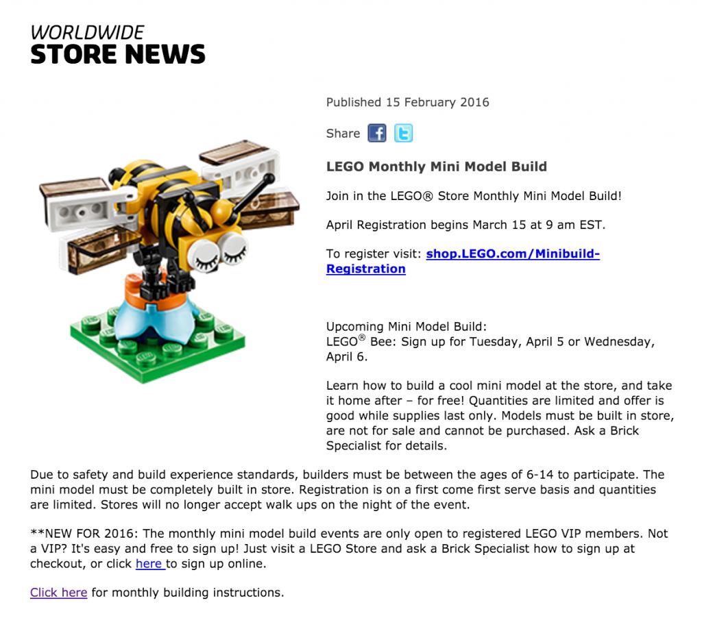 April 2016 LEGO Monthly Mini Build