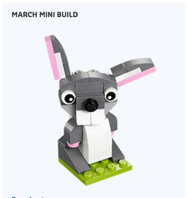March 2016 LEGO Monthly Mini Build Bunny