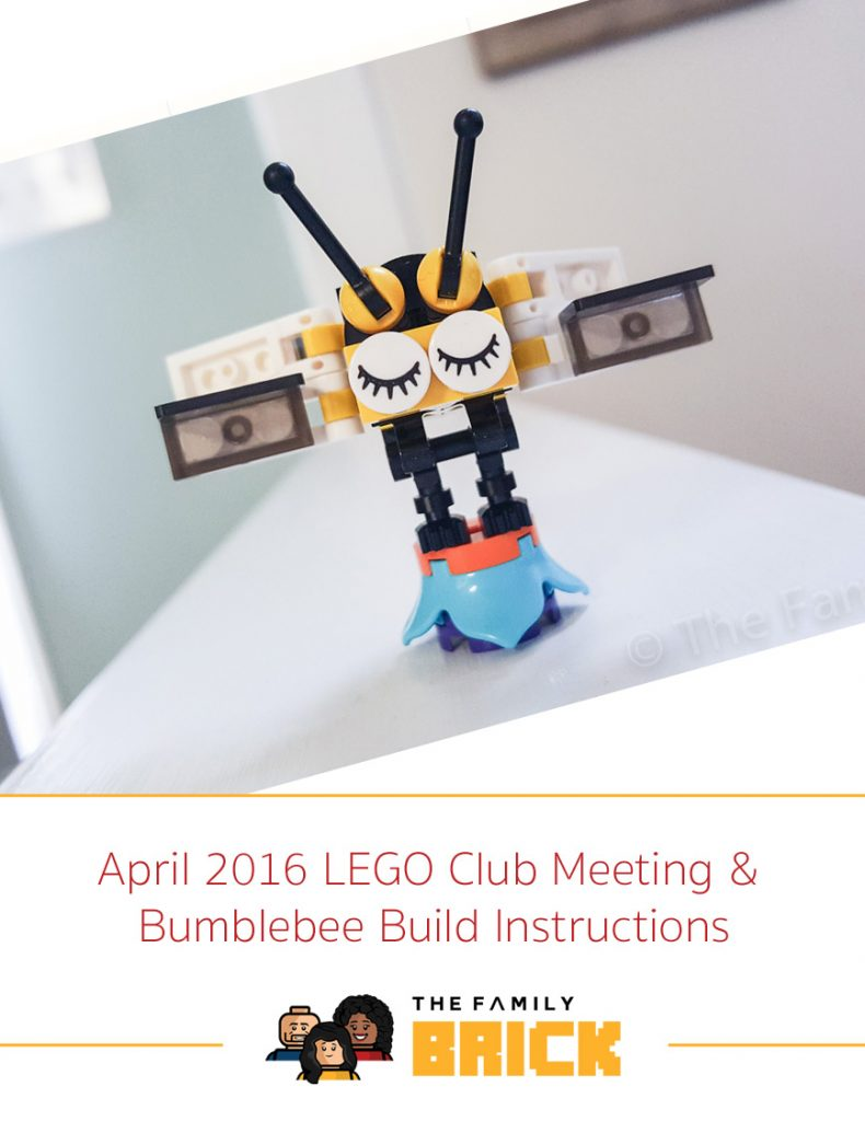 April 2016 Lego Club Meeting Bumblebee Build Instructions The