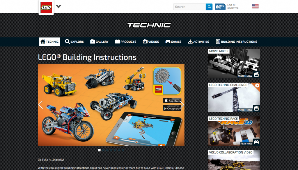 LEGO Building Instructions App Page