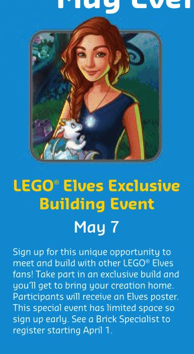LEGO Elves Building Event