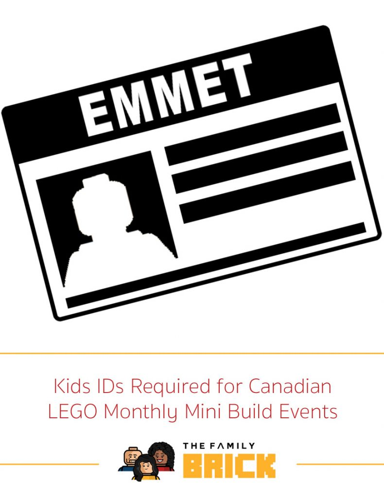 Kids IDs Required for Canadian LEGO Monthly Mini Build Events