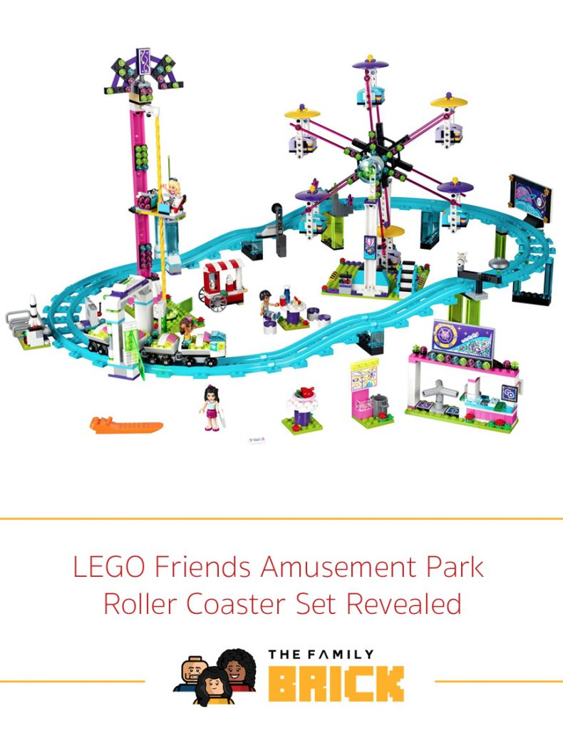 LEGO Friends Amusement Park Roller Coaster Set Revealed