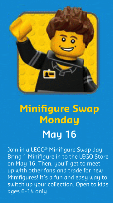 LEGO Minifigure Swap Monday May 16th