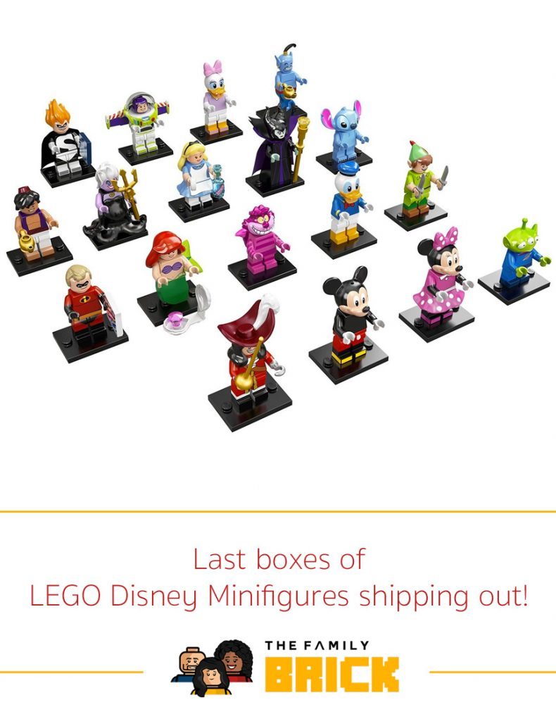 Last boxes of LEGO Disney Minifigures shipping out
