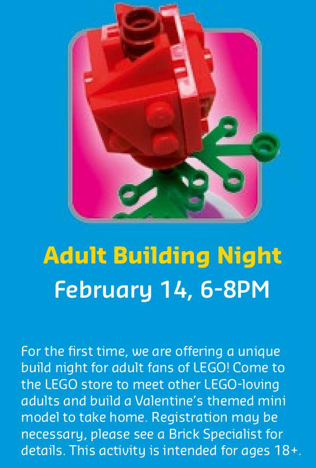 February 2017 LEGO Monthly Calendar - Adult Building Event